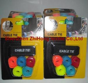 China Customized reusable hook loop buckle twist lock ties wholesale