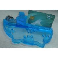 China Eco friendly PVC Coin Tray Blue Durable Coin Tray , Durable Money Tray wholesale