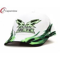 China Youth Cotton Racing Baseball Caps 46 3D Embroidery With White Sandwich Peak wholesale