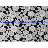 China White Polyester Children'S Clothing Fabric Water Soluble Embroidery Lace for Dresses or Decoration wholesale