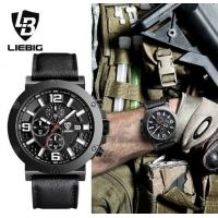 China LIEBIG Commander Series Military Quartz Watches Genuine Leatner Strap Multifunction Men Chrono Watches ZHG161017 wholesale