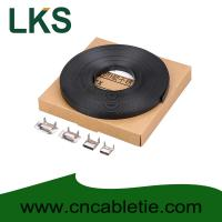 China LKS-CB Series PVC Coated Stainless Strapping Band with Screw Buckle and Banding tools wholesale