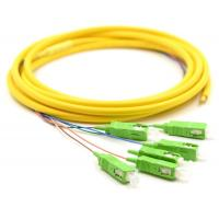China Simplex Fiber Optic Pigtail With SM Yellow Fiber Optic Cable Low Salt Spray wholesale