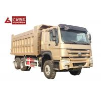 China Sinotruck Tri Axle 40 Ton Middle Lifting Heavy Duty Tipper Truck For Construction on sale