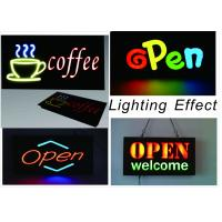 China 23X43cm LED Neon Open Sign with Chain With Resin Letter Storefront Sign wholesale