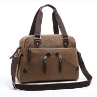 China Casual Tote Canvas Cross Body Handbags, Women Large Travel Crossbody Bags With Zippers wholesale