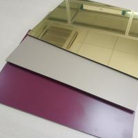 China High Reflective Rate Aluminum Mirror Sheet Glass Processing Anodized Stable wholesale