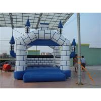 China Theme Park Large Inflatable Bounce House With Slide CE / TUV Cert wholesale