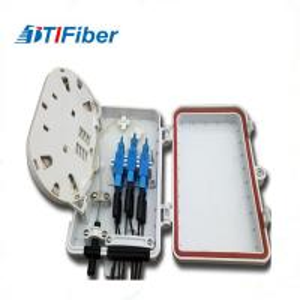 Quality FTTH Optical Fiber Distribution Box , Fiber Optic Splitter Terminal Box 6 8 12 for sale