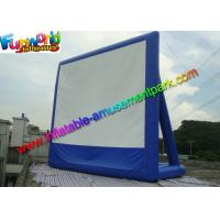 Quality 11 x 10 Dark Blue Inflatable Movie Screen , Inflatable Projector Screens / Theater for sale