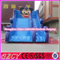 China Inflatable Blue Mickey Mouse Slide For Kids and Adults wholesale