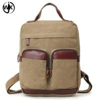 China High-capacity Multi-function men backpack leather with canvas luxury bags men canvas tote bag shoulder wholesale