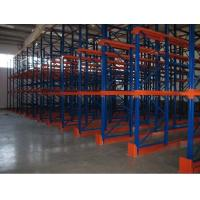 China  Dairy industry Drive in racking , steel beam shelving and racking systems blue and orange  for sale