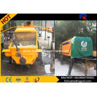 China Air Cooling Stationary Trailer Concrete Pump Anti - Wearing Horiness Alloy wholesale