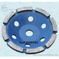 China Single Row Diamond Cup Grinding Wheel for Concrete and Granite - DGWS03 wholesale