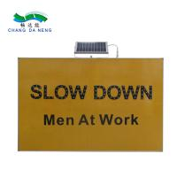 China Solar panel led solar warning traffic signboard Double Arrows Solar Indicator light on sale