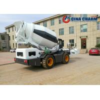 China Self Loading Mobile Concrete Mixer With 4000L Real Concrete Yield Per Batch on sale