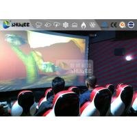 China Interaction Reality 7D Movie Theater With Red Fiber Glass Motion Seats wholesale