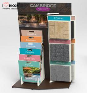 China Focus Marble Tiles Display Racks Showroom Display Rack Stands Designing Manufacturing wholesale