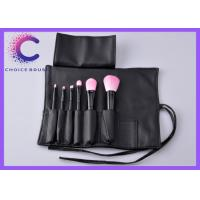 Quality Professional makeup brush sets 6pcs with leather case black pocket for sale