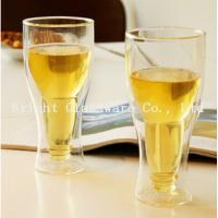 China top popular double wall beer glass for wholesale wholesale