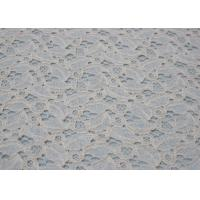 Buy cheap Ivory Cotton Nylon Lace Fabric For Dresses  from wholesalers