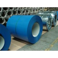 China Blue Color Coated Galvanized Steel Coil , Polyester Paint Color Steel Coil wholesale
