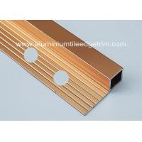 China Bright Polished Copper Aluminium Square Edge Tile Trim 10mm x 2m Length wholesale
