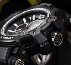 Quality SBAO Men Outdoor Dual Time Waterproof TPU Band Week date Alarm Display for sale