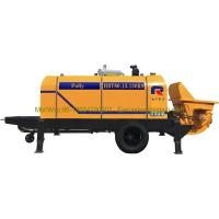 China Air Cooling Diesel Trailer Mounted Concrete Pump 300m Transmission Distance wholesale