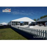 China White Wedding Party Marquee / Outdoor Clear Span Marquee Hire wholesale