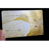China 2018 Hot Sell Laser Gold PVC Business Card wholesale