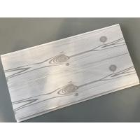Buy cheap Flat 25cm Waterproof Wall Panels Wooden Pattern With Double Silver Lines from wholesalers
