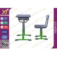 China Hollow Polethylene Top Desk And Chair Set For Students , 5 Years Warranty wholesale