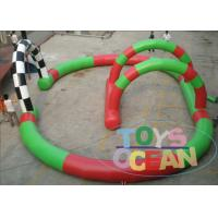China Small Digital Printing Inflatable Go Kart Racing Track For Kids Karting Car Event wholesale