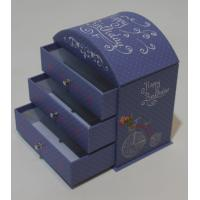 Wholesale Round top desk paper-cardboard box with 3 drawers from china suppliers