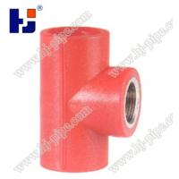 China Plastic pipe fittings PPR reducer female thread tee wholesale