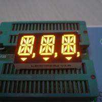 China Anode Ultra Amber 14 Segment Alphanumeric Display 14.2mm Cathode Polarity wholesale