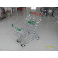 125 L Supermarket Shopping Trolley / Wheeled Shopping Cart For Groceries
