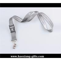 China Factory custom 20*900mm sublimation logo polyester lanyard with breakaway buckle wholesale
