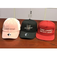 China Wholesale cotton twill make America great again red custom logo color baseball hats caps on sale