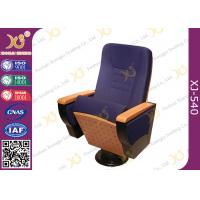 China Writing Tablet In Armrest Lecture Hall Seating Chairs With AC Outlet On Single Leg wholesale