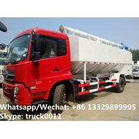 China 2018s good price dongfeng new 20m3 10tons hydraulic discharging bulk feed truck for Bolivia, poultry feed  body  truck wholesale