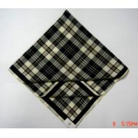 China Checkered Cotton Handkerchief on sale
