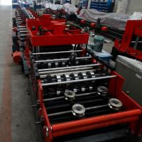 China 15KW Z & C Purlin Roll Forming Machine With Hydraulic / Manual Decoiler And PLC Control Line wholesale