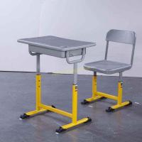 China Adjustable Metal Middle School Student Table And Chair With Iron / Aluminum Frame wholesale