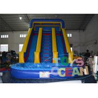 China 18OZ PVC Blue Inflatable Pool Slide Summer Party Rental Lead Free Kids wholesale