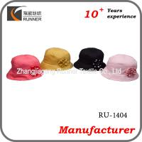China Ladies fashion hats with flower decoration wholesale