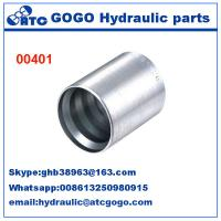 China Carbon Steel Hose Quick Coupling Fittings FERRULES FOR 4SH R12/32 HOSE  00401 wholesale