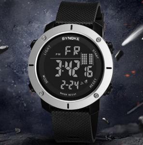 China Wholesale Synoke Challenge Simple Large Dial Waterproof 50m PU Band Chronograph Alarm Sport Wrist Watch 9658 wholesale